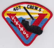 RCAF Patch Sqn Royal Canadian Air Force 407 Sqn Escadron Crew 5