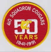 RCAF Patch Sqn Royal Canadian Air Force 410 TF OT Squadron 50th