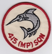 RCAF Patch Sqn Royal Canadian Air Force 415 MP Squadron