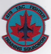 RCAF Patch Sqn Royal Canadian Air Force 419 TFTS Sqn Escadrille