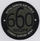 RDAF Patch Wing Royal Danish Air Force Eskadrille 660 Sqn Combat