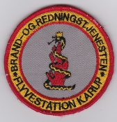 RDAF Patch Station Royal Danish Air Force Karup Fire And Rescue