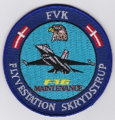 RDAF Patch Station Royal Danish Air Force F 16 Maint Skrydstrup