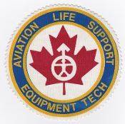 RCAF Patch Spt Royal Canadian Air Force Life Support Eqip Tech L