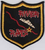USAF Patch Bomb Vietnam River Rats Rare US Made 1960s Large