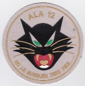 Spanish Patch Air Force Ejercito Del Aire Ala 12 Wing F4 Rubber