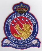 Spanish Patch Air Force Ejercito Del Aire Base Zaragoza Hornet