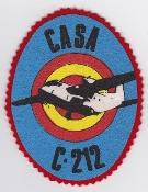 Spanish Patch Air Force Ejercito Del Aire 352 Esc Squadron C 212