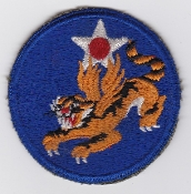 US Army Air Force Patch United States 14 AAF China CBI Tigers