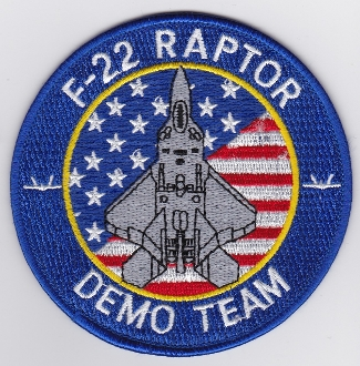 USAF Patch Display United States Air Force F 22 Raptor Demo Team