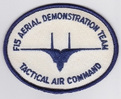USAF Patch Display United States Air Force F 15 Demo Team 49 TFW