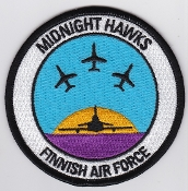 Finnish Air Force Patch Midnight Hawks Aerobatic Display Team a