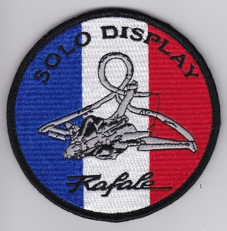French Air Force ALA Patch Display Rafale Solo Display 2013