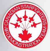 RCAF Patch Sticker Display Canadian Starfighter Air Demo Team