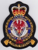Army Air Corps AAC Sqn Patch 660 Squadron Crest 1997 White Mid