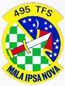 USAF Sticker Patch Ftr USAFE 495 TFS Tac Fighter Squadron F 111