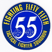 USAF Sticker Patch Ftr USAFE 55 TFS Tac Fighter Squadron F111