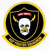 USAF Sticker Patch Ftr USAFE 493 FS Fighter Squadron F 15