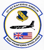USAF Sticker Patch Air Refueling USAFE 11 Strategic Group KC 135
