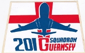 RAF Sticker Patch Sqn Royal Air Force 201 Squadron Zap Decal