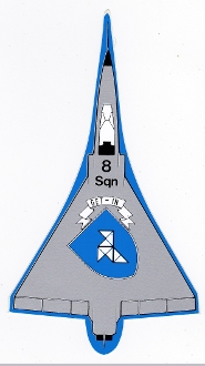 BAF Sticker Patch Sqn Belgium Air Force 8 Squadron Mirage 5B