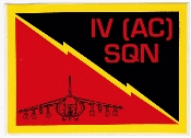 RAF Sticker Patch Sqn Royal Air Force 4 Squadron Zap Decal GR7