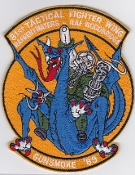 USAF Patch Fighter USAFE 81 TFW Tactical Ftr Wing g A 10 j 89 b