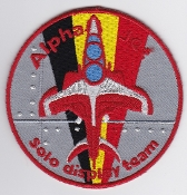 Belgium Air Force Patch BAF Display Alpha Jet Solo Team