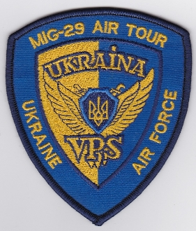 Ukrainian Air Force Patch Display Mig 29 Fulcrum Air Tour 1992