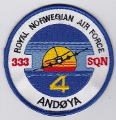 RNoAF Patch Royal Norwegian Air Force 333 Skv Squadron P 3 ASW 4