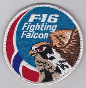 RNoAF Patch Royal Norwegian Air Force 332 Skv Sqn F 16 Solo b