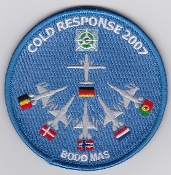 RNoAF Patch Royal Norwegian Air Force Ex Cold Response 2007 EPAF