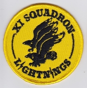 RAF Patch j 11 Fighter Squadron Royal Air Force Lightning QRA