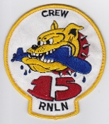 RNLNAS Patch Netherlands Naval Aviation 320 Squadron Crew 15 P 3