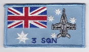 RAAF Patch Sqn Royal Australian Air Force 3 Squadron FA18 Hornet