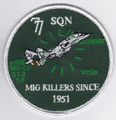 RAAF Patch Sqn Royal Australian Air Force b 77 Squadron Mig Kill