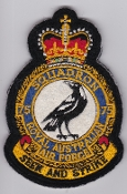 RAAF Patch Sqn Royal Australian Air Force b 75 Squadron Crest Bl