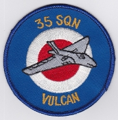 RAF Patch j 35 Squadron Royal Air Force Vulcan Bomber Ops 1970s