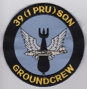 RAF Patch j 39 Squadron Royal Air Force 1 PRU Canberra Large
