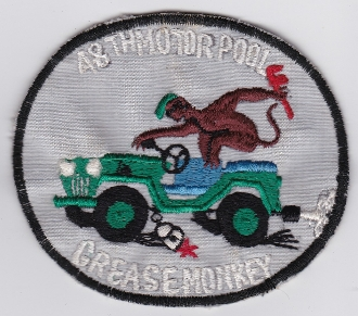 US Army Aviation Co Patch 48 Avn Company Motor Pool Vietnam