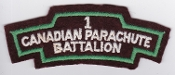 Canadian Airborne Patch 1 Canadian Parachute Battalion WWII