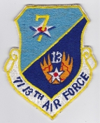 USAF Patch Cmd PACAF 7 13 Air Force Shield Local Made