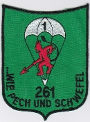German Army Airborne Patch Fallschirmjager Bn 261 Parachute