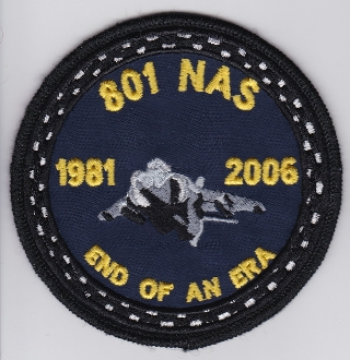 Fleet Air Arm Patch 801 Naval Air Squadron h Sea Harrier Retire