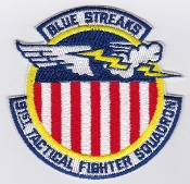 USAF Patch Fighter USAFE 91 TFS Tactical Ftr Squadron g A 10 4a
