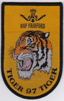 1997 Air Force Patch NATO Tiger Meet RAF Fairford IAT