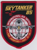 1985 Air Force Patch NATO Skytanker 85 RAF Fairford IAT