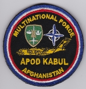 Air Force Patch NATO APOD Kabul Multinational Force Afghanistan