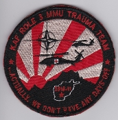 USAF USN Patch Rescue NATO KAF Role 3 MMU Trauma Team