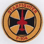 German Air Force Patch 31 Jabog Boelcke F 104 Starfighter Cross
